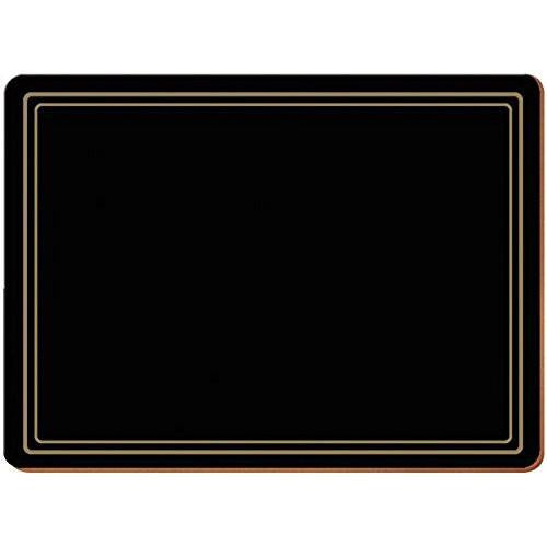 Creative Tops Classic Black Large Placemats 40cm by 29cm (Set of 4)