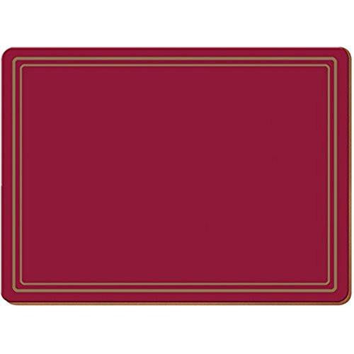 Creative Tops Classic Red Large Placemats 40cm by 29cm (Set of 4)