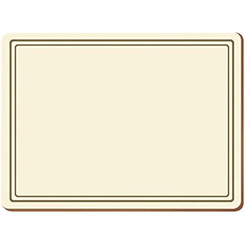 Creative Tops Classic Cream Placemats 30cm by 22.8cm (Set of 6)