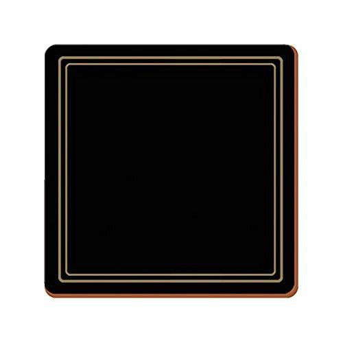 Creative Tops Classic Black Coasters 10.5cm by 10.5cm (Set of 6)