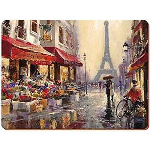 Creative Tops Paris Scene Placemats 30cm by 22.8cm (Set of 6)