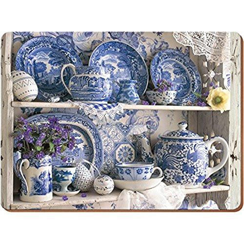 Creative Tops Blue and White China Large Placemats 40cm by 29cm (Set of 4)