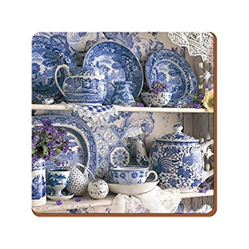 Creative Tops Blue and White China Large Coasters (Set of 4)