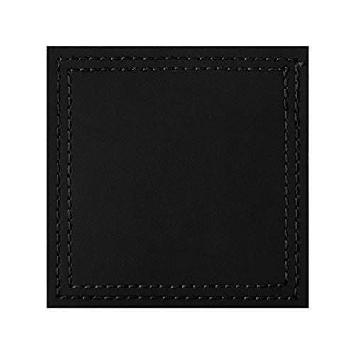 Creative Tops Leather Black Coasters 10cm by 10cm (Set of 4)