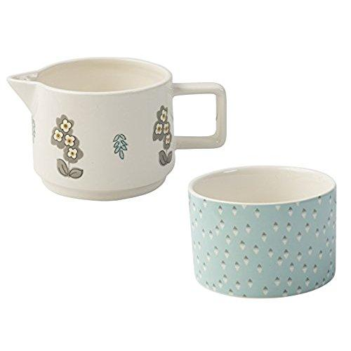 Katie Alice Pretty Retro Stoneware Sugar and Creamer