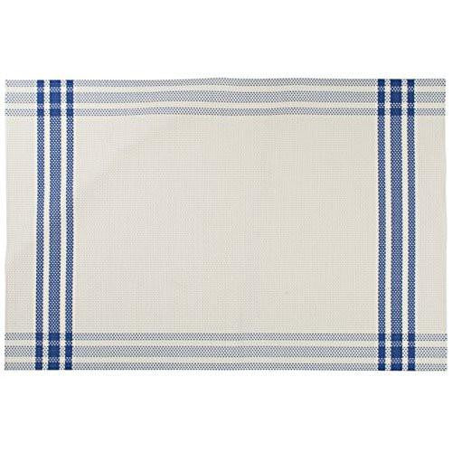 Creative Tops Check Border Vinyl Blue Placemat 40cm by 30cm