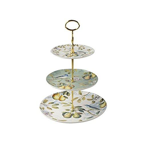 English Table Spring Fruits 3 Tier Cake Stand