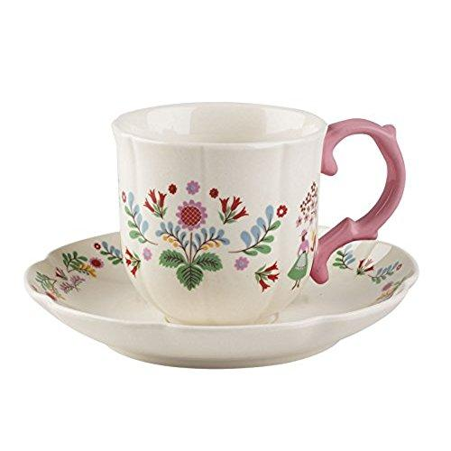 Katie Alice Festival Folk Cup and Saucer