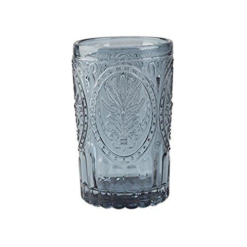 Katie Alice Festival Folk Navy Glass Tumbler