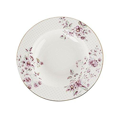 Katie Alice Ditsy Floral Fine Bone China White Rimmed Soup Plate