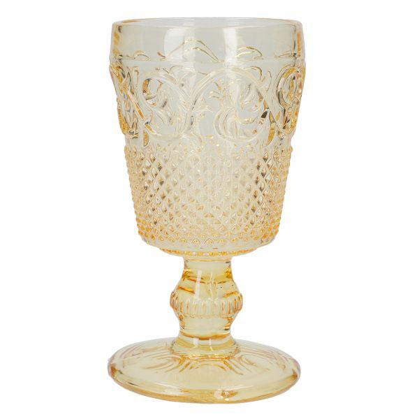 Katie Alice The Collection Yellow Embossed Goblet
