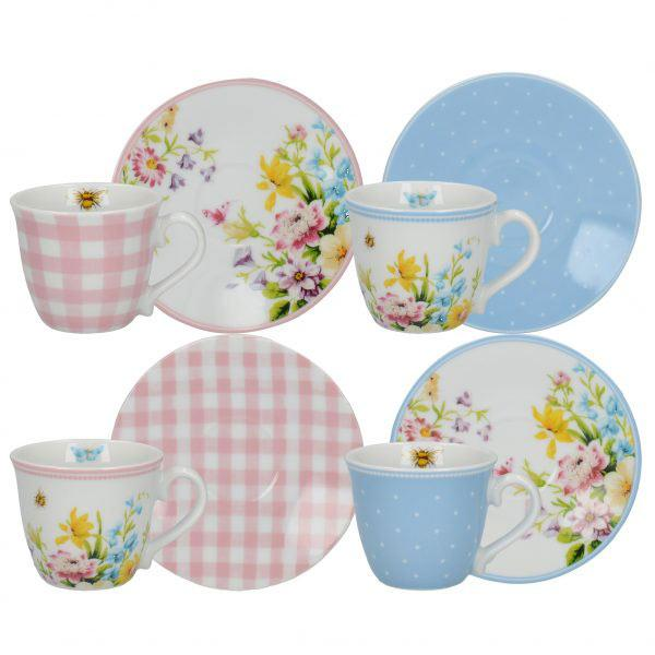 Katie Alice English Garden English Garden Espresso Cup and Saucer (Set of 4)