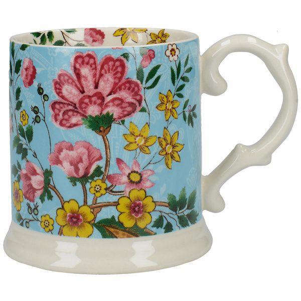 Katie Alice Eastern Flora Tea Tankard Mug with Ribbon