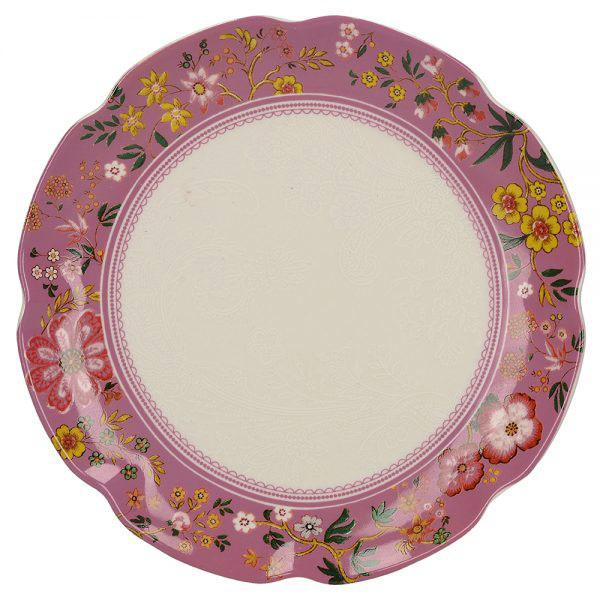 Katie Alice Eastern Flora Canape Pink Plate