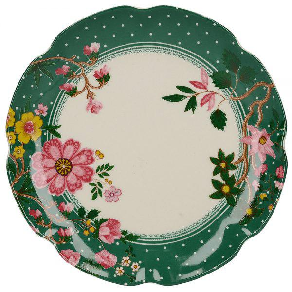 Katie Alice Eastern Flora Canape Green Plate