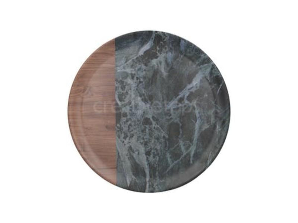 Creative Tops Premium Greem Marble Effect Round Tray 36cm
