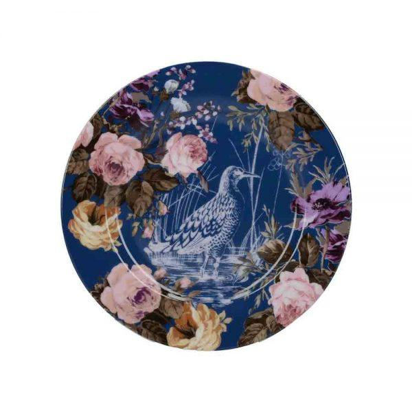 Katie Alice Wild Apricity Navy Birds Side Plate 19cm