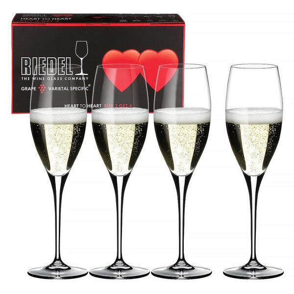 Riedel Heart to Heart Champagne Glass 0.33L (Set of 4)