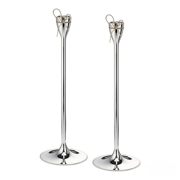 Wedgwood Vera Wang Love Knots Silver Candlestick (Pair)
