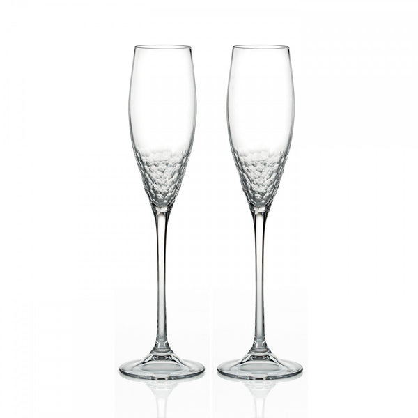 Wedgwood Vera Wang Crystal Sequin Flute Pair