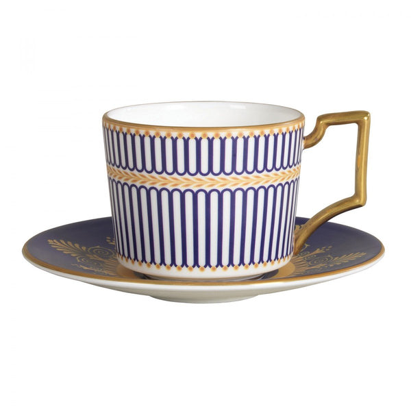 Wedgwood Anthemion Blue Espresso Saucer (Saucer Only)