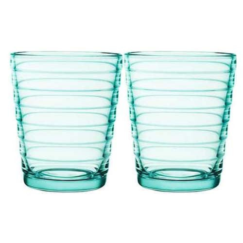 Iittala Aino Aalto Water Green Tumbler Pair 22cl