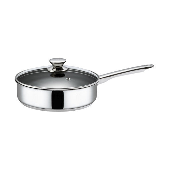 Hackman Classic Saute Pan with Glass Lid 24cm