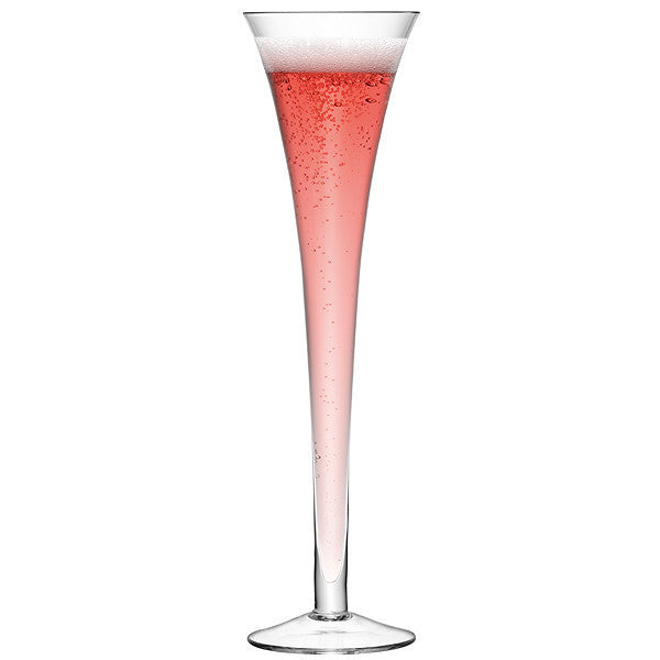 LSA Bar Clear Champagne Flute Pair 225ml