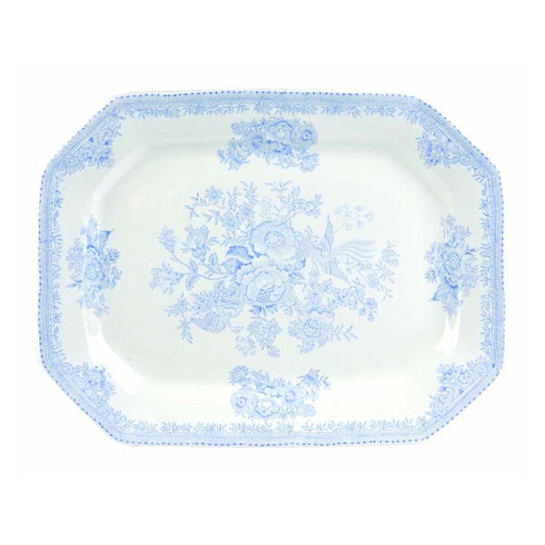 Burleigh Blue Asiatic Pheasant Rectangular Serving Dish 34cm
