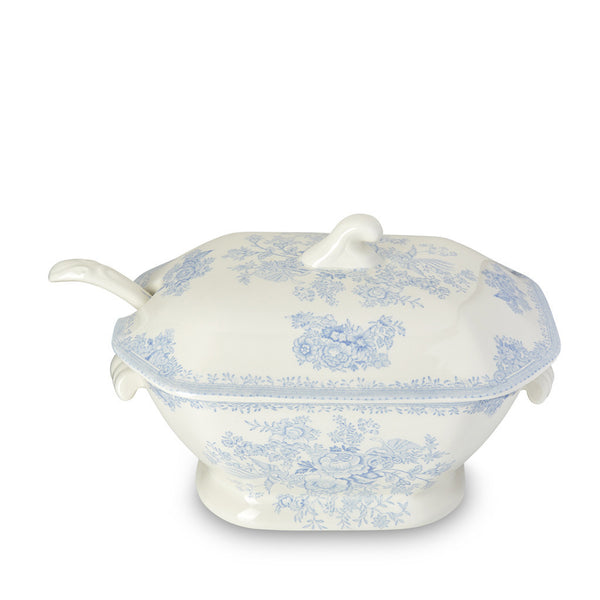 Burleigh Blue Asiatic Pheasant Soup Tureen and Ladle