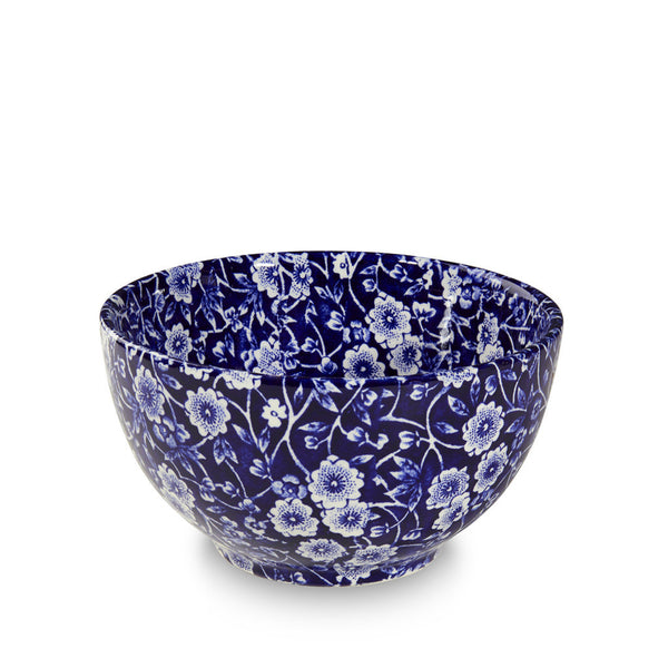 Burleigh Blue Calico Sugar Bowl 12cm