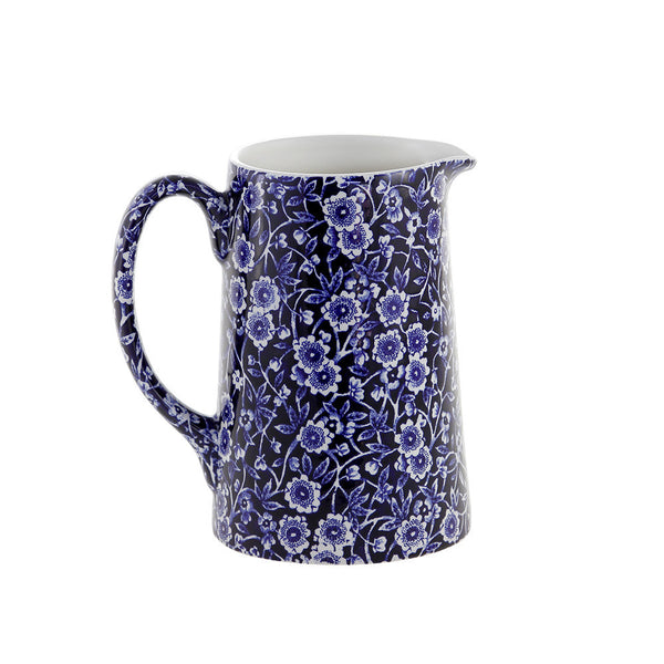 Burleigh Blue Calico Medium Tankard Jug 0.57L