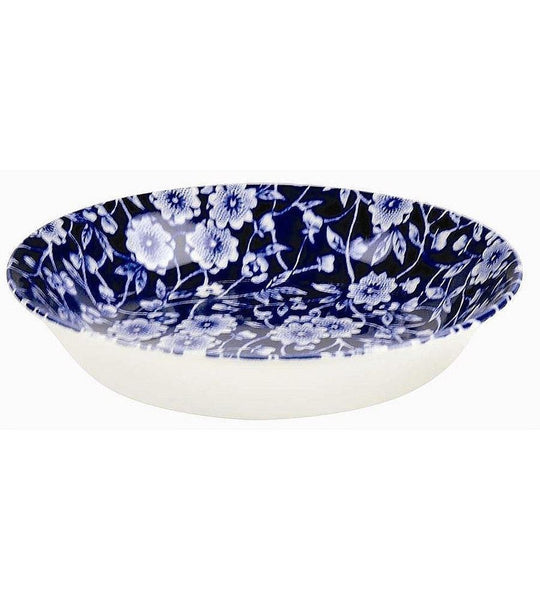 Burleigh Blue Calico Butter Pat Round Dish 12cm