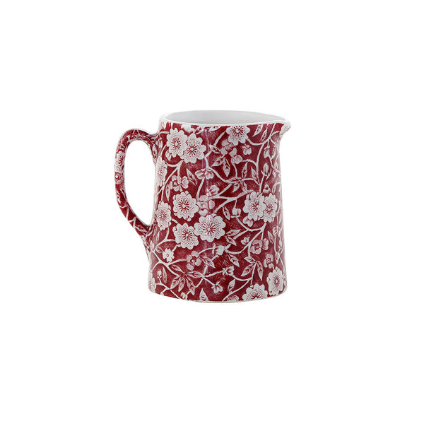 Burleigh Red Calico Mini Tankard Jug 0.16L