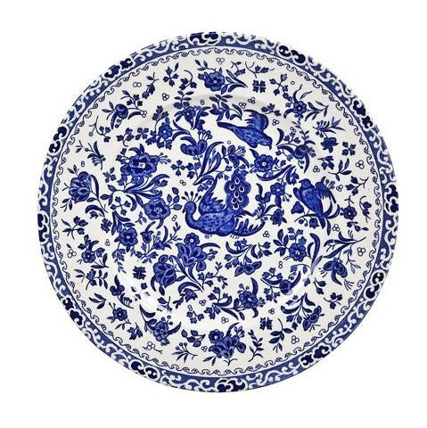 Burleigh Blue Regal Peacock Breakfast Saucer (Saucer Only)