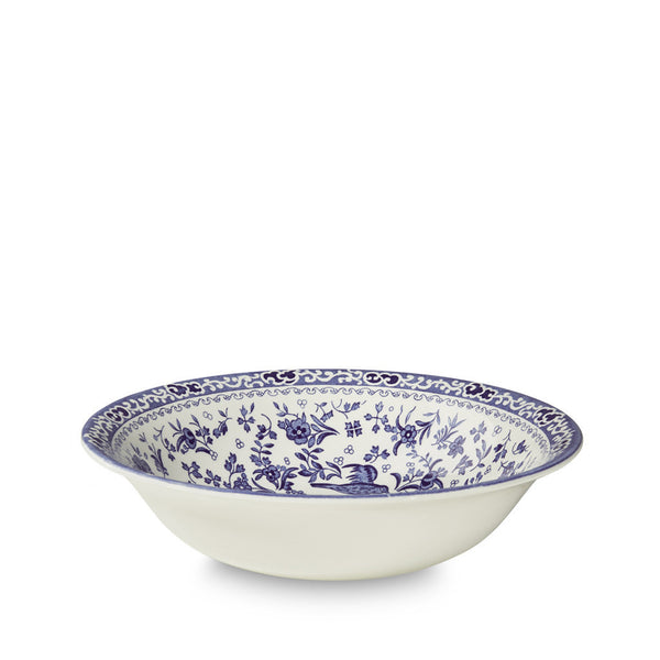 Burleigh Blue Regal Peacock Soup Bowl 20.5cm