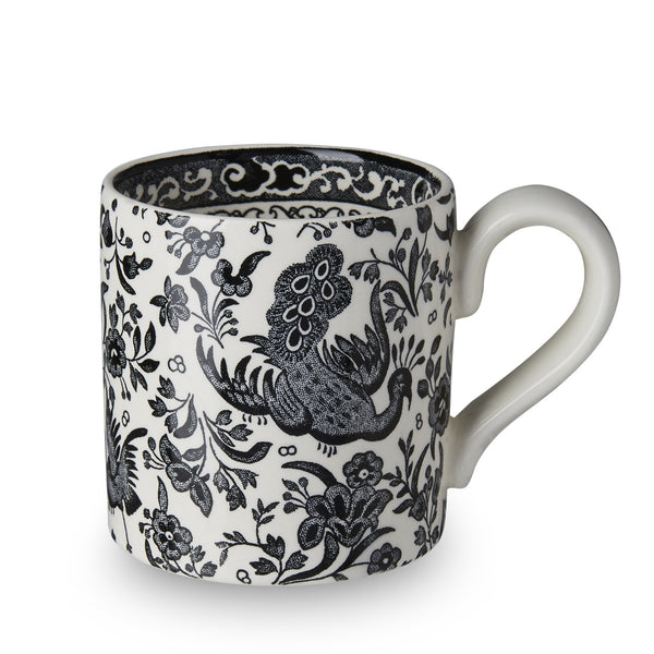 Burleigh Black Regal Peacock Mug 0.28L