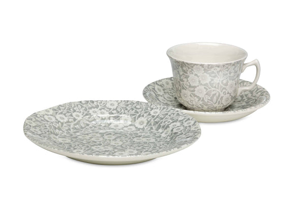 Burleigh Dove Grey Calico Breakfast Saucer (Saucer only)