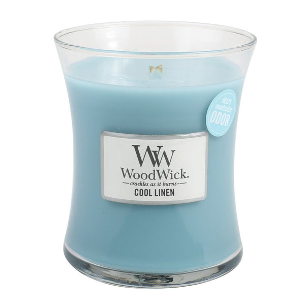 WoodWick Cool Linen Medium Candle