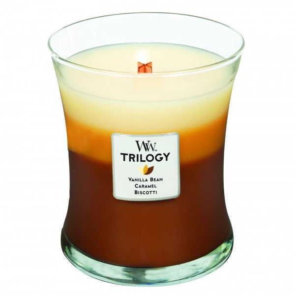 WoodWick Cafe Sweets Medium Trilogy Candle