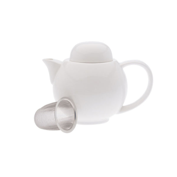 Maxwell and Williams White Basics 2 Cup Teapot and Strainer