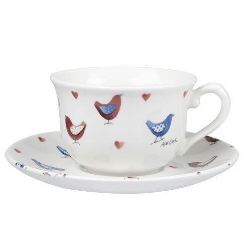 Alex Clark Lovebirds Teacup And Saucer 0.20L