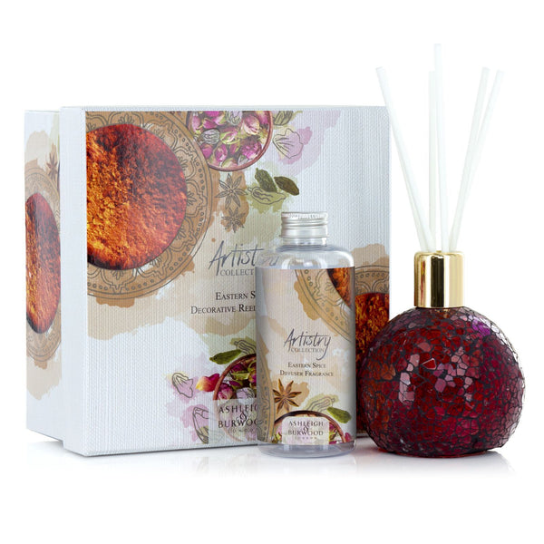 Ashleigh and Burwood Artistry Eastern Spice with Rose Bud Vase Gift Set (Diffuser and Fragrance Lamp)