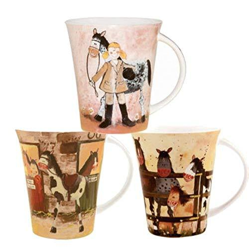 Alex Clark Ponies Pack of Pair Mugs 0.37L (Assorted design)