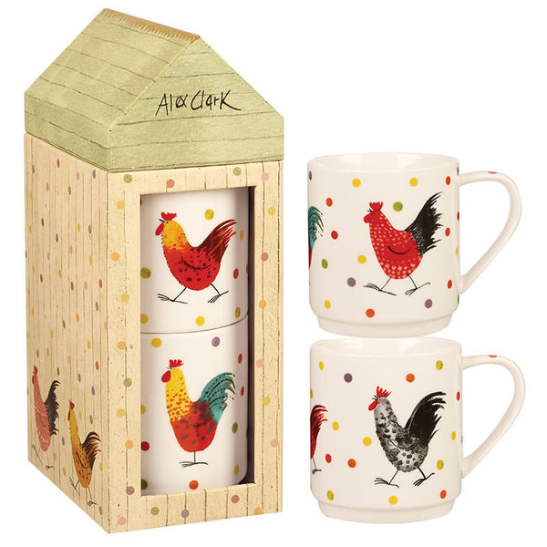Alex Clark Rooster Stacking Mug 0.32L (Pair)