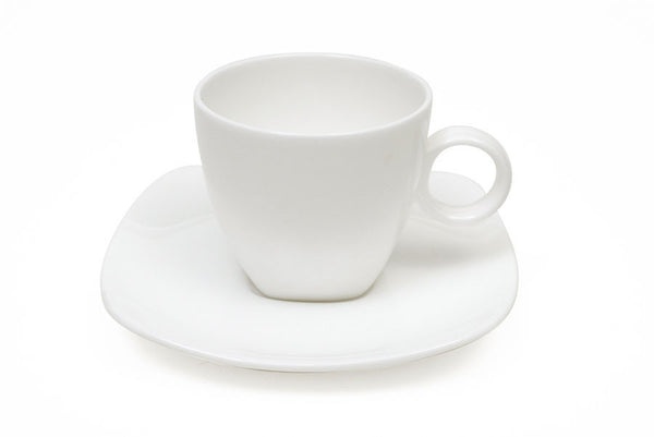 Maxwell and Williams Cashmere Bone China Square Coupe Espresso Cup and Saucer 100ml