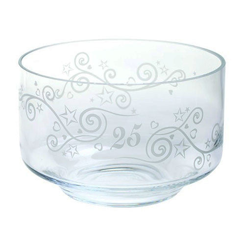 Dartington Crystal  Celebrate 25 Years Bowl 20cm by 13cm [C]