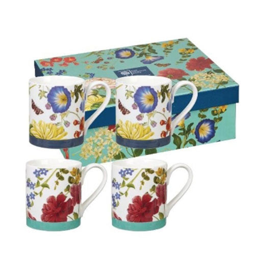 Churchill China Butterflies and Bloom Larch Mug (Set of 4)