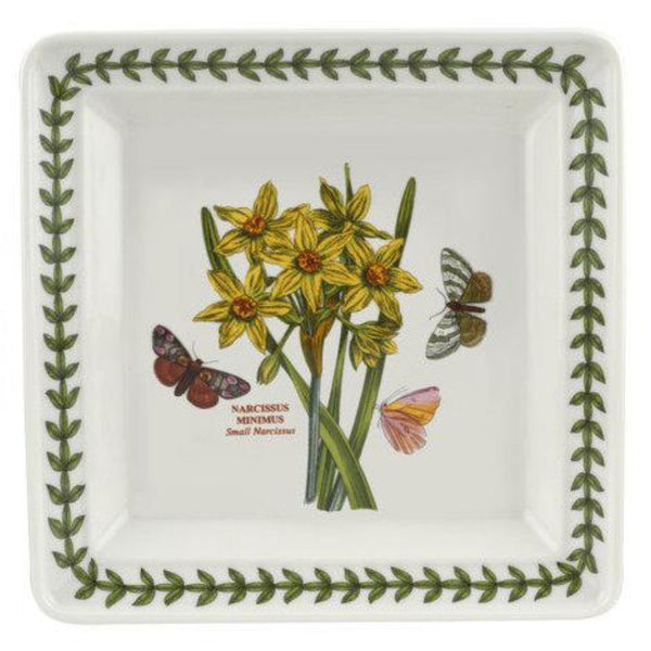 Portmeirion Botanic Garden Narcissus Square Plate 7 Inch