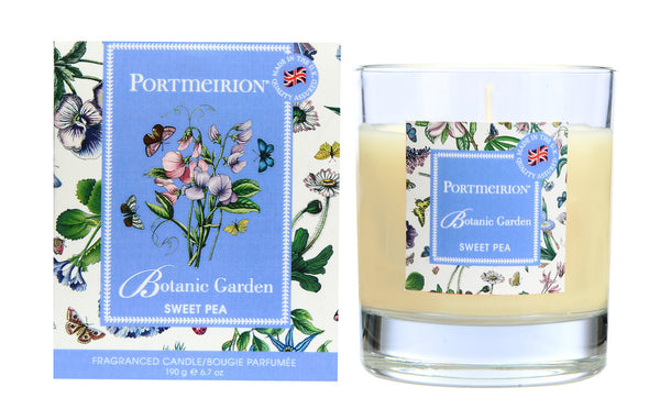 Portmeirion Botanic Garden Fragrance Sweet Pea Glass Candle